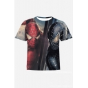 Spider Man Cool 3D Figure Printed Short Sleeve Casual T-Shirt