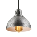 "Antique Pewter Finish and Bowl Shade 8.4""Wide Mini Pendant Light in Industrial Style"