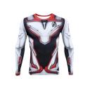 Hot Popular Avengers Endgame Quantum Battle Suit Cosplay Costume Long Sleeve Slim Fit T-Shirt