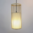 Bamboo Cylinder Ceiling Pendant with 47