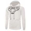 New Stylish 3D Tiger Pattern Long Sleeve Mens Slim Fit Sport Hoodie