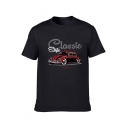New Fashion Car Letter CLASSIC STYLE Printed Cotton Short Sleeve Mens T-Shirt