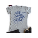 Street Style Letter THE FUTURE IS FEMALE Short Sleeve Cotton T-Shirt
