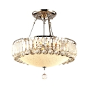 Polished Chrome Round Pendant Lighting with 12
