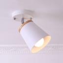 Rotatable Cone Mini Ceiling Light with White Metal Shade 1/2/3 Light Modern Semi Flush Mount