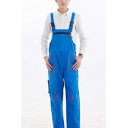 New Stylish Unique Buckle Straps Breathable Workwear Mechanic Overalls for Men
