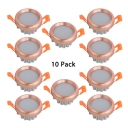 (10 Pack)9/12W Grey/Copper Flush Mount Recessed 4.5/6 Inch Light Fixture Recessed for Dining Room Kitchen in Warm/White