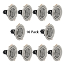 (10 Pack)Metal Round Recessed Down Light Wireless LED Light Fixture Recessed in White/Warm for Bedroom Kitchen