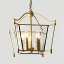 Vintage Style Candle Shape Chandelier Metal 5 Lights Gold Hanging Light for Living Room Dining Room