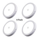 Pack of 4 Flush Mount Light with Infrared Motion Sensor Dining Room 5 Inch Slim Panel Spot Light in White