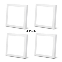 (4 Pack)12/36W Square Ceiling Light Fixture Office Acrylic and Aluminum LED Slim Panel Spot Light with White Light