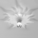 Decorative Long Life Ceiling Light Sun Flower Design LED Flush Mount Light in White/Warm for Bedroom