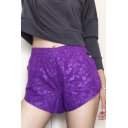 Womens Outdoor Training Running Shorts Quick Dry Sport Fitness Pull-On Dolphin Shorts