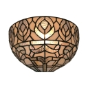 Up Lighting Wall Light Tiffany Style Glass Sconce Wall Light for Bedroom Dining Room