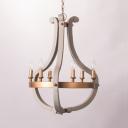 Metal Candle Pendant Lighting 6/12 Lights Traditional Light Chandelier for Foyer Living Room