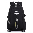 Casual Zipper Backpack with Laptop Compartment School Bag