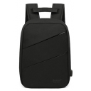 Professional Letter Pattern Large Capacity USB Charging Backpack with Laptop Compartment 28*9*40 CM