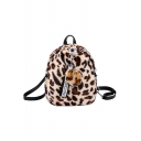 Chic Leopard Pattern Convertible Cross Body Backpack 20*9*23 CM
