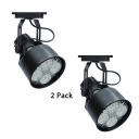 (2 Pack)Rotatable Black/White Track Light 1 Head Aluminum LED Spot Light for Display Window Showroom