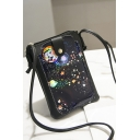 Fashion Galaxy Planet Pattern Crossbody Cell Phone Purse 11*2*18 CM