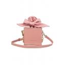 Stylish Plain Bow Tie Crossbody Sling Bag for Girls 13*12*13 CM