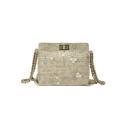 Summer Stylish Floral Pattern Straw Crossbody Messenger Bag Shoulder Bag 18*7.5*16 CM