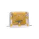 New Stylish Polka Dot Printed Transparent Crossbody Bag 19*5*15 CM