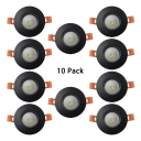 (10 Pack)7/10W Aluminum Recessed Light Black Round Flush Mount Recessed in White/Warm White for Bedroom