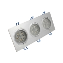 15/21W Rectangle Recessed Down Light Hallway Wireless Aluminum Flush Mount Recessed in White/Warm