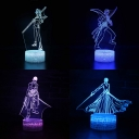 7 Color Changing 3D Night Light with Touch Sensor Birthday Gift Decor Cartoon Character Pattern LED Bedside Light