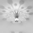 Decorative Long Life Ceiling Light Dandelion Design LED Flush Mount Light in White/Warm for Bedroom Hallway