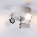 Black/White/Nickle LED Ceiling Fixture Angle Adjustable 3 Heads Wireless Spot Light for Bedroom