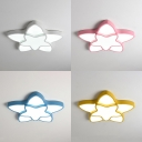 Creative Star Shape Ceiling Light White/Pink/Yellow/Blue Acrylic LED Flush Mount Light with White Lighting