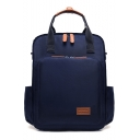 Women Solid Color Water Resistant Backpack Large Capacity Travel Mummy Bags