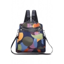 New Fashion Printed Water Resistant Zipper Backpack Shoulder Bag 24*10*24 CM