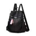 Simple Plain Letter LOVE Ribbon Oxford Cloth Shoulder Bag College Backpack 29*13*33 CM