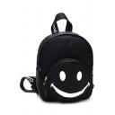 Unisex Lovely Smile Letter Printed School Backpack 18*7*22 CM