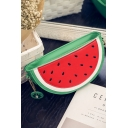 Cute Cartoon Watermelon Shape Red and Green Crossbody Bag with Chain Strap 23*7*12 CM