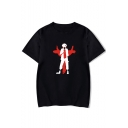 Cool Comic Figure Pattern Basic Round Neck Short Sleeve Loose Casual T-Shirt