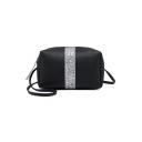 Chic Color Block Sequin Crossbody Shoulder Bag 19*8*10 CM
