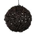 Handmade Globe Pendant Lighting One Light Rustic Style Hanging Light Fixture in Black