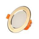 10 Pack Circle LED Recessed Light 3W 3 Inch Gold Light Fixture for Dining Room Kitchen
