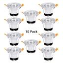 (10 Pack)Multi Optional Color Recessed Light 5W Aluminum Circle Light Fixture Recessed for Restaurant Bar