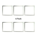 (6 Pack)Bedroom Hallway Acrylic Aluminum Recessed Light 12*12/23.5 Energy Saving Light Fixture Recessed in White/Warm White