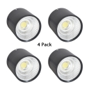 (4 Pack)20/30W Drum Shape Spot Light Bedroom Meeting Room Long Life LED Light Fixture with White Lighting
