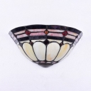Rustic Colorful Wall Light with Cone Shade Single Light Glass Sconce Light for Stair Living Room