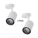 (2 Pack)Black/White LED Spot Light with Adjustable Angle Long Life Aluminum Ceiling Light in White/Warm White for Mall