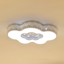 White Lighting/Stepless Dimming Ceiling Light Lovely Cloud Shade Flush Mount Light for Boy Girl Bedroom
