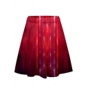 Womens Cool Metallic Color Quantum Battle Suit Mini A-Line Skirt