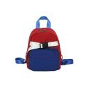 Chic Color Block Buckle Decoration Mini Shoulder Bag Backpack 19*10*24 CM